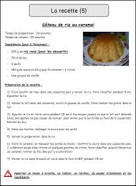 exercice recette de cuisine la recette mimiclass