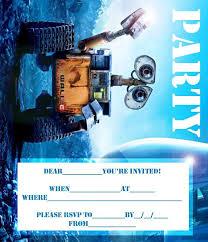 wall e disney printable party invite jpg 686 799 pixels riley u0027s