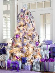 white tree with purple ornaments rainforest islands ferry