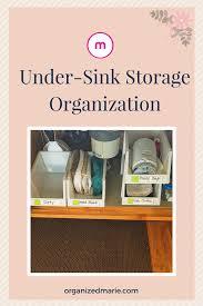 Under The Kitchen Sink Organization by Under Sink Storage Solution Organized Marie