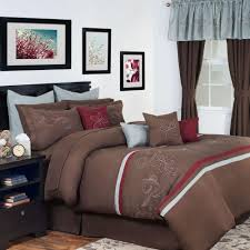 Queen Comforter On King Bed Duck River Esy Pintuck Reversible Taupe 8 Piece Queen Comforter