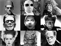 classic halloween monsters wallpaper