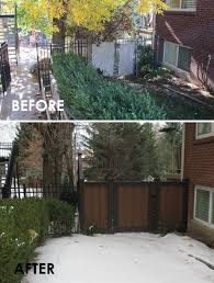before and after archives trex fencing the composite