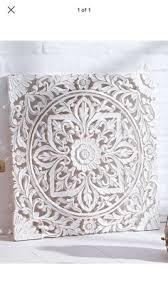 etsy white floral wood wall panel indian wood by siamsawadee
