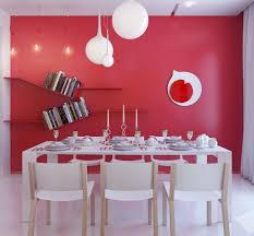 dining room wall shelves dining room wall decor with red painting and wall shelves