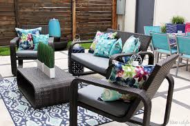 Cushion For Patio Furniture by Diy With Style The No Sew Way To Reupholster Outdoor Cushions