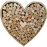 Wedding Wishes Shadow Box Amazon Com Wedding Wishes Box Included Wooden Hearts In White