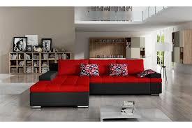 canapé d angle cuir et tissu canapé d angle convertible en tissu cuir pu design