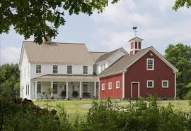 two barns house barn attached to house the best barn red paint the lettered
