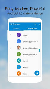 contacts apk kk contacts easy cool contact 1 8 1 apk android