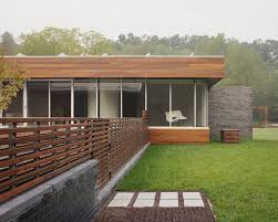 horizontal fence panels exterior contemporary with brick wall