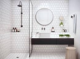 Mosaic Tiled Bathrooms Ideas Bathroom Design Black White Mosaic Tile Classic White