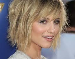 jagged layered bobs with curl short choppy layered hairstyles for fine hair medium hair styles