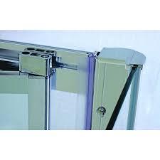 aqua spa deluxe 760mm bi fold shower door chrome frame shower
