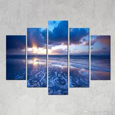 unstretched modern home decorative picture ocean beach decor