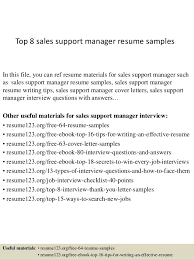Sample Resume For Sales by Top 8 Sales Support Manager Resume Samples 1 638 Jpg Cb U003d1428676820