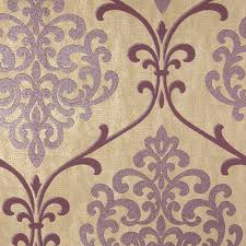 Purple Damask Wallpaper by Kenneth James Ambrosia Glitter Damask Wallpaper Hayneedle