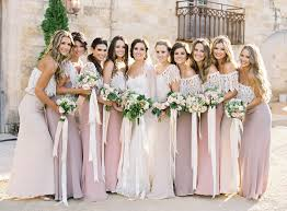 wedding bridesmaid dresses earthy wedding by jose villa once wed