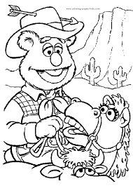 muppet show cartoon characters coloring pages color plate