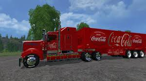 kenworth trailers kenworth cocacolatruck and cocacolatrailer truck v1 0 farming