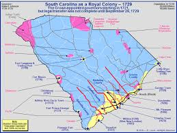map of carolina the royal colony of south carolina the towns and settlements in 1729