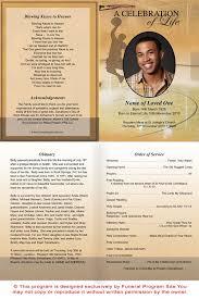 Memorial Program Template Funeral Poster Templates Nfgaccountability Com