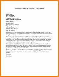 Cover Letter For Rn 8 Cover Letter Example For Nurses Hostess Resume