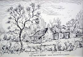 old ranch house drawing by aileen markowski