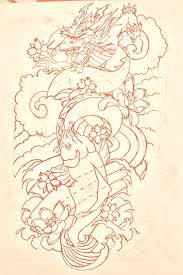 japanese dragon tattoo sleeve designs koi and dragon tattoo designs koi dragon sleeve lines by
