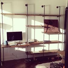 pipe desk with shelves 40 shelves desk small shelf for loft desk cherry caretta workspace