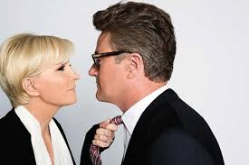 american actor with floppy hair and plays exasperated characters joe scarborough mika brzezinski trump a love story