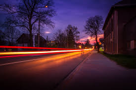 Lights For Outdoors Free Images Sunset Road Traffic Morning