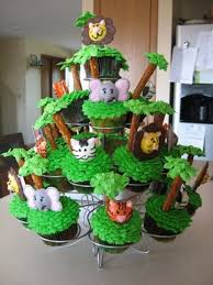 jungle cupcakes for baby shower