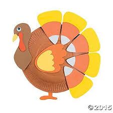 paper plate corn turkey craft kit turkey craft