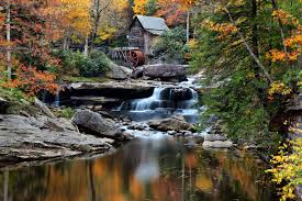 west virginia grist mill autumn structures free nature pictures