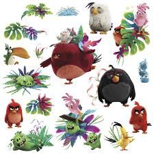 angry birds wall stickers ebay angry birds movie wall decals red chuck bomb stella matilda room decor stickers