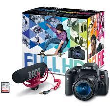 amazon com canon eos rebel t6i video creator kit with 18 55mm