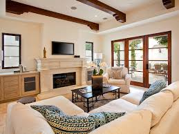 Beige Walls White Trim by Tv Wall Mount And Sofa Orange Living Room Sarah White Accent Table