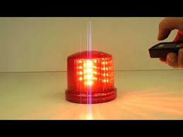 battery powered led warning beacon with remote