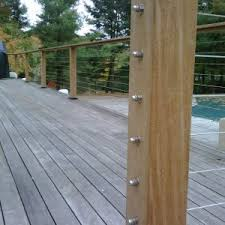 Outdoor Banister Furniture Fascinating Feeney Cable Rail For Outdoor Home Design