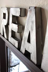 Letter Home Decor by Metal Wall Letters Home Decor Image Of Rustic Letters Home Decor