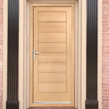 Exterior Flush Door Modena External Flush Oak Door And Frame Set