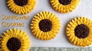 how to decorate sunflower cookies youtube