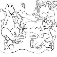 barney friends picnic colouring happy colouring