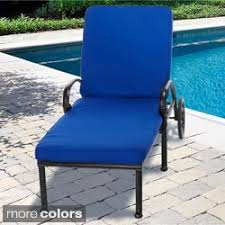 indoor outdoor 25 inch chaise lounge cushion with stain resistant