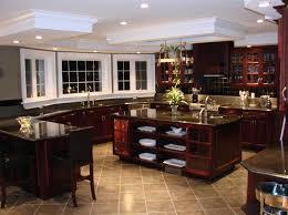 dream kitchen designs with dark wooden cabinet home interior