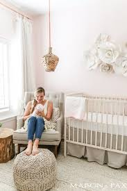 Neutral Nursery Decorating Ideas Blush Nursery With Neutral Textures Maison De Pax