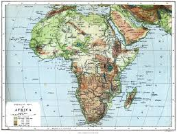 Africa Physical Map Cthulhu Maps Africa