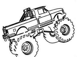 monster trucks coloring pages to print