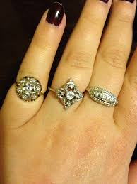 vintage love rings images Vintage antique diamond colored gems post as many pics as possible jpg